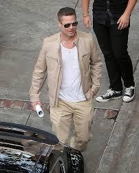 he was wearing a beige salvatore ferragamo sesamo leather jacket 3 490 khaki pants and tan boots