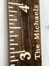 Diy Wood Wall Growth Chart For Less Than 20 A Moment Of