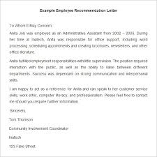 20+ Employee Recommendation Letter Templates | HR Template | Free ...