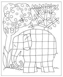 Kleurplaat Juf Joyce Coloriages Et Cadres Elmer The Elephants