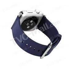 rock genuine leather watch band for apple watch 42mm with axle blue tvc mall com