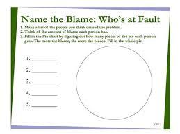 Blame Pie Chart Diagram Lists To Make Blame