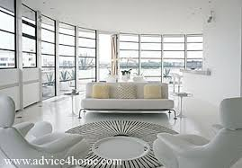 modern furniture living room and white sofa set design and natural