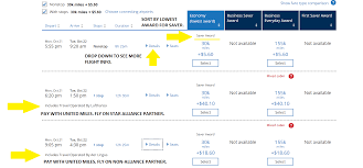 United Mileage Plus Redeem Miles Chart Redeeming United Miles For The Best Value The