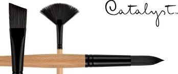 oil paint brushes. catalyst™ polytip bristle synthetic painting brushes oil paint
