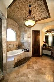 Luxury Bathroom In Tuscan Style With A Bathtub And Beige - Luxury bathrooms pictures