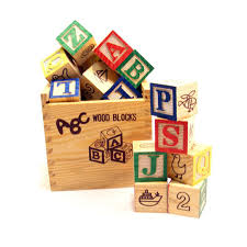 tootpado 27 pcs abc 123 wooden blocks letters numbers with box storage case classic