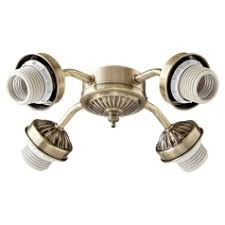 ceiling fan light kit. quorum lighting antique brass fan light kit ceiling h