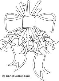 Small Picture Mistletoe Coloring Pages at SantaLettercom