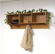 Hanging Coat Rack With Storage New Wall Coat Rack With Shelves Hanger Shelf And Mounted Rustic Wood
