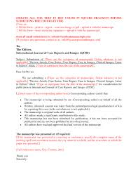 Cover Letter For Journals Sample Adriangatton Com
