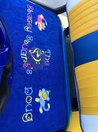 custom back seat golf cart seat protective cover personalized level 1 good