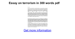essay on terrorism in words pdf google docs