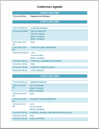 Templates For Meeting Agenda Conference Agenda Template At Word Documents Com Microsoft