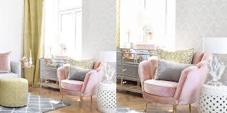 Wohnzimmer In Strahlendem Gelb Rosa Instashop