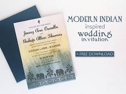wedding invite template download free modern indian wedding invitation printable template download