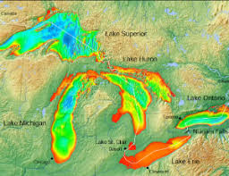 Lake Michigan Bathymetry Chart Celebrate The Great Lakes On Earth Day Chicago Public Library