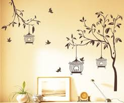 Small Picture Buy Decals Design Tree with Birds and Cages Wall Sticker PVC