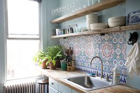 moroccan glass tile backsplash