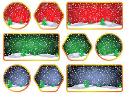 Winter And Christmas Labels Stock Vector Image