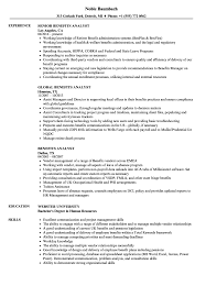 Benefits Analyst Resume Samples Velvet Jobs