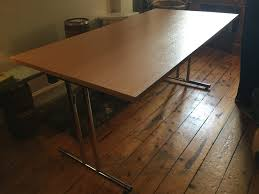 office home trestle table large folding desk leith gumtree edinburgh person countertop and chairs espresso shaped