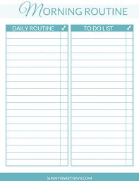 Daily Routine Printable Morning Routine Free Daily Checklist Printable