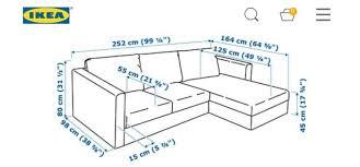 ikea vimle 3 seater chaise longue sofa