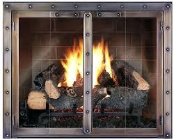 exquisite wood fireplace glass door how to clean gas