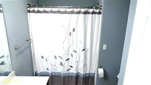 install curved shower curtain rod mounted rods luxury double installation how to height curt