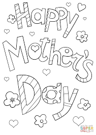 Small Picture Happy Mothers Day Doodle coloring page Free Printable Coloring