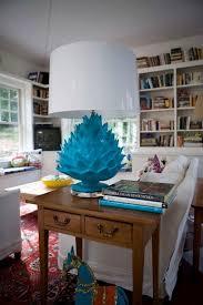 paper mache artichoke lamp