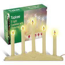 8 Light Christmas Candolier Tupkee Christmas Candolier Window Candles With Flickering Bulbs 5 Lights Indoor Flameless Electric Window Candles Candelabra