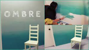 interior: Appealing Ombre Concept Applied For Diy Wall Painting At Small  Sized Bedroom Which Is