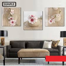Paintings For Living Room Wall Oil Paintings Canvas Sakura Flower Wall Art Decoration Home Decor