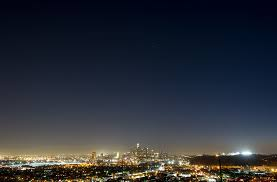 Lights In The Sky Los Angeles Today A Clear Night Sky About The City Lights Of Los Angeles Ca