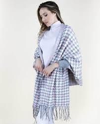 FP60513-GY <b>Houndstooth</b> Sweater Shawl | A <b>Fashion</b> Group Board ...