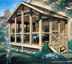 family plans screened porch plan 85933