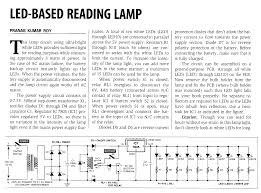 home built led lighting otherpower 3 watt ac 10 led reading lamp circuit