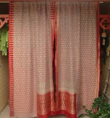 Coral Patterned Curtains Interesting Decorating