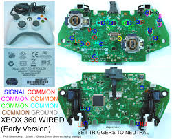 360_diagram6 gaming, gadgets, and mods xbox 360 and original xbox controller on xbox 360 wired controller circuit board diagram
