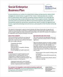 Nonprofit Business Plan Template Non Profit Business Plan 14 Pdf Word Documents Download