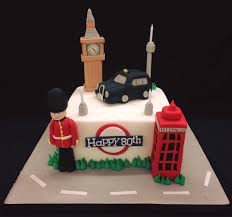 London Themed 80th Birthday Cake Cakes For All Uk