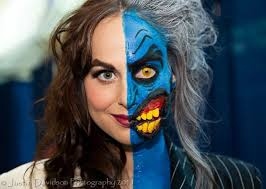 makeup ideas two face makeup two face makeup cosplay features two faces