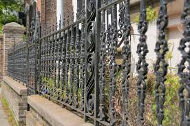 metal fence ideas. Fine Ideas An Intricate Design On A Shorter Wrought Iron Fence On Metal Fence Ideas