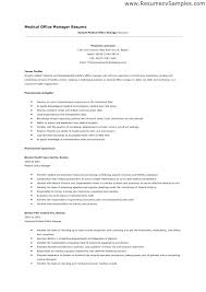 Sample Resume For Office Manager Mmventures Co