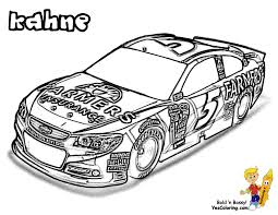 Small Picture NASCAR Cars Coloring Kahne at YesColoring Cool Super Car