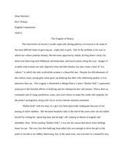 poem essay ap english barbie doll by marge  5 pages the tragedy of beauty barbie doll analysis paper