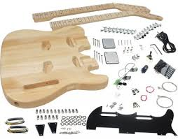 solo sg style diy guitar kit double neck basswood body solo tele style double neck diy guitar kit