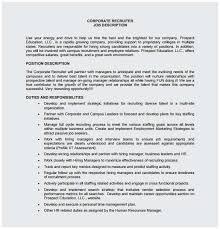 Sample Resume For Hr Recruiter Position Perfect Recruiter Job
